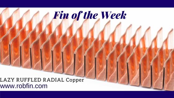 Lazy Ruffled Radial Copper Fin
