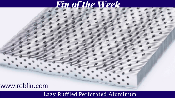 lazy ruffled perforated aluminum fin
