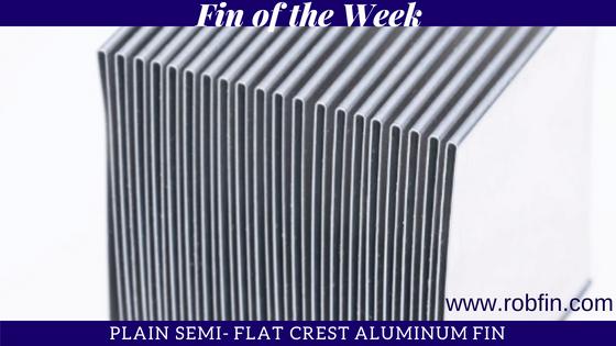 plain semi flat crest aluminum fin for heat transfer