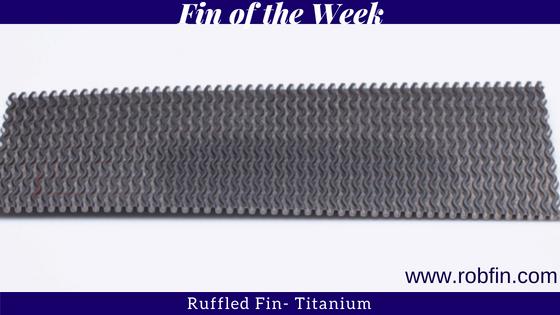 Ruffled Fin- Titanium
